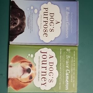 Two Books- A Dog's Purpose & A Dog's Journey